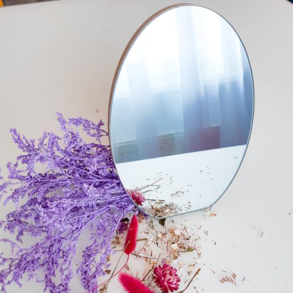 Дзеркало дерев'яне овальне