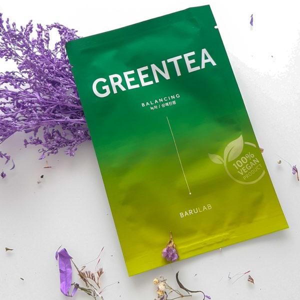 Заспокійлива маска з зеленим чаєм Barulab The Clean Vegan Green Tea Mask