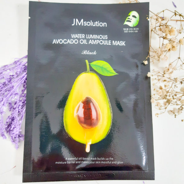 Тканинна маска JM Solution Water Luminous Avocado Oil Ampoule Mask