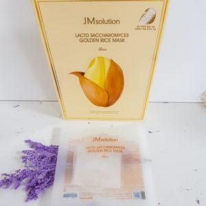 Тканинна маска з екстрактом ферментованого рису JM Solution Lacto Saccharomyces Golden Rice Mask