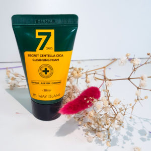 Очищаюча пінка для проблемної шкіри з центелла May Island 7 Days Secret Centella Cica Cleansing Foam 30 мл
