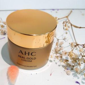 Антивіковий крем на основі колоїдного золота AHC Real Gold Cream