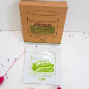 Очищаючі пілінг-педи з екстрактом центелли азіатської PURITO Centella Green Level All In One Mild Pad