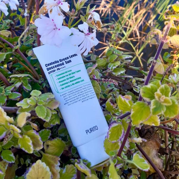 Сонцезахисний крем з центелла (без ефірних масел) Purito Centella Green Level Unscented Sun SPF50 + PA ++++